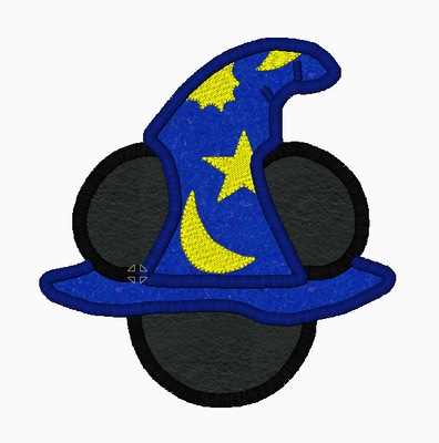 Mickey Mouse Embroidery Applique Design WIZARD - IC1derful Designs