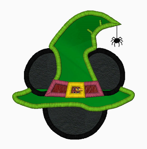 "Mickey Mouse Embroidery Applique Designs ""WITCH Boy"" - IC1derful Designs"