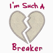 Heart Breaker Embroidery Applique Design - IC1derful Designs