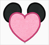 "Minnie Mouse Embroidery Applique Designs ""VALENTINE"" - IC1derful Designs"