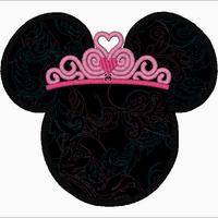 "Minnie Mouse Embroidery Applique Designs ""Princess Tiara"" - IC1derful Designs"
