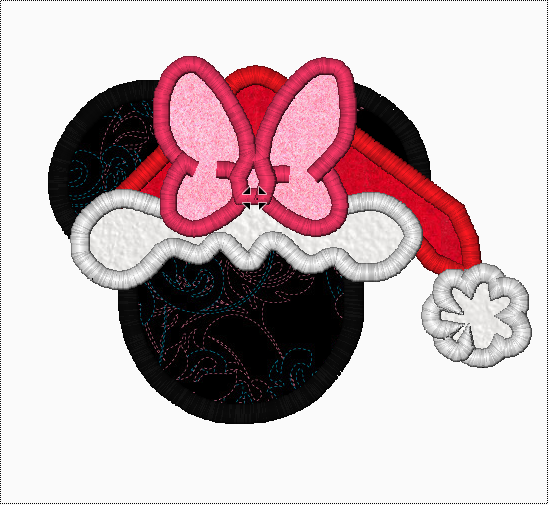 "Minnie Mouse Embroidery Applique Designs ""SANTA"" - IC1derful Designs"