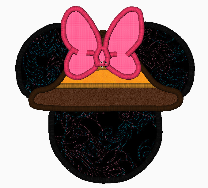 "Minnie Mouse Embroidery Applique Designs ""SAFARI"" - IC1derful Designs"