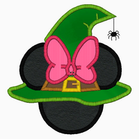 "Minnie Mouse Embroidery Applique Designs ""WITCH Girl"" - IC1derful Designs"