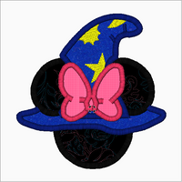 "Minnie Mouse Embroidery Applique Designs ""WIZARD"" - IC1derful Designs"