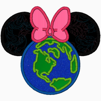 "Minnie Mouse Embroidery Applique Designs ""WORLD"" - IC1derful Designs"