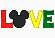 "Mickey Mouse Embroidery Applique Designs ""Love and Mickey Mouse"" - IC1derful Designs"
