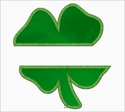 "Shamrock Embroidery Applique Design ""Split Style 1"" - IC1derful Designs"