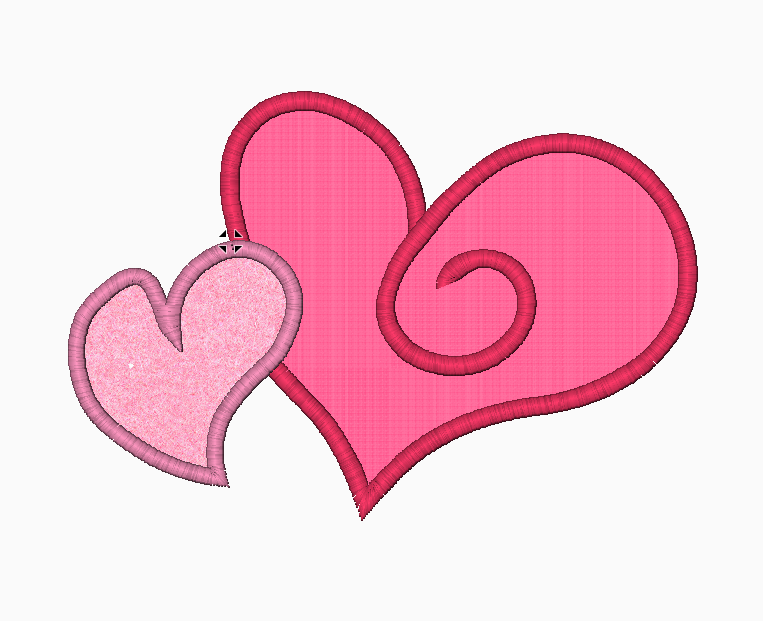 Hearts Embroidery Applique Design (Fancy) - IC1derful Designs