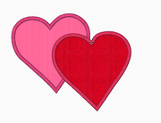 Two Heart Applique Embroidery Designs (Standard) - IC1derful Designs