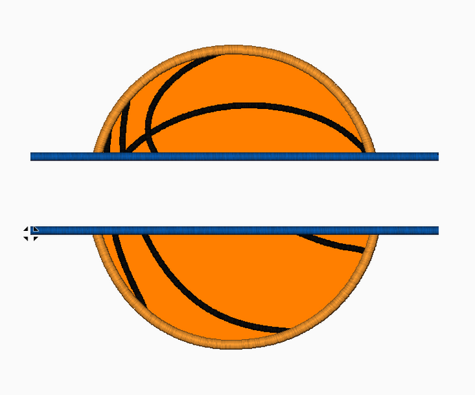 March Madness Basketball Embroidery Applique Design (Split Design) - IC1derful Designs