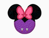 "Minnie Mouse Embroidery Applique Designs ""VAMPIRE Girl"" - IC1derful Designs"