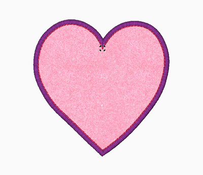Heart Embroidery Applique Design - IC1derful Designs