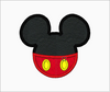 Mickey Mouse Embroidery Applique Designs (Yellow Eyes) - IC1derful Designs