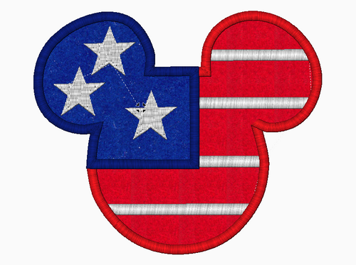 Mickey Mouse Embroidery Applique Designs (American Flag) - IC1derful Designs