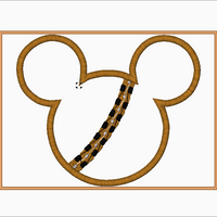 CHEWBACCA Mickey Ears Embroidery Applique Designs - IC1derful Designs