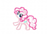 My Little Pony Embroidery Applique Designs - Pinkie Pie - IC1derful Designs