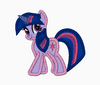 My Little Pony Embroidery Applique Designs - Twilight Sparkle - IC1derful Designs