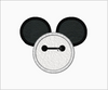 Baymax Mickey Mouse Ears Embroidery Applique Designs - IC1derful Designs
