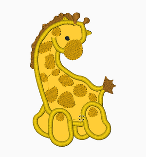 Giraffe Embroidery Applique Design - IC1derful Designs