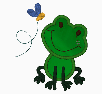 FROG Embroidery Applique Design - IC1derful Designs