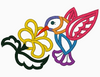 Jacobean Hummingbird Embroidery Applique Design - IC1derful Designs