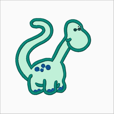 Happy Dinosaur  Embroidery Applique Design - IC1derful Designs