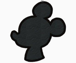 Mickey Mouse Silhouette Embroidery Applique Design - IC1derful Designs