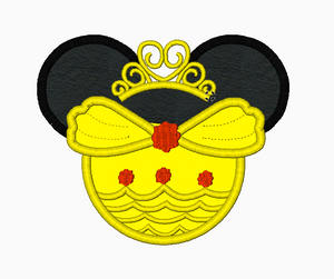 Minnie Mouse Ears BELLE Dress Machine Embroidery Designs - IC1derful Designs