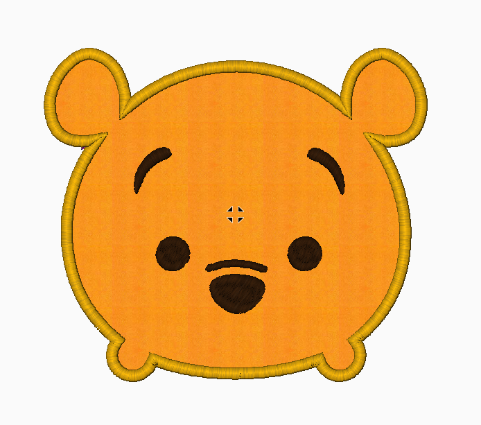 Tsum Tsum Embroidery Design Applique - Winnie The Pooh - IC1derful Designs