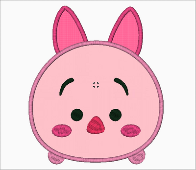 Tsum Tsum Embroidery Design Applique - Piglet - IC1derful Designs