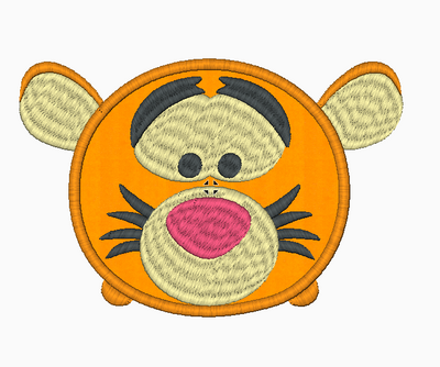Tsum Tsum Embroidery Design Applique - Tigger - IC1derful Designs