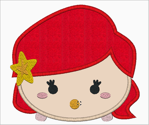 Tsum Tsum Little Mermaid Embroidery Applique Designs Download - IC1derful Designs
