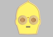 Star Wars C3PO Embroidery Applique Designs - IC1derful Designs
