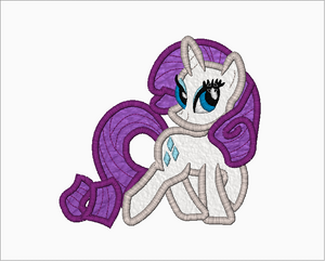 My Little Pony Embroidery Applique Designs - Rarity - IC1derful Designs