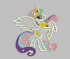 My Little Pony Embroidery Applique Designs - Celestia - IC1derful Designs