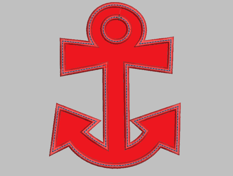 Anchor Aweigh Embroidery Applique Design - IC1derful Designs