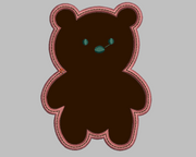 Cute Cuddly Bear Embroidery Applique Design - IC1derful Designs