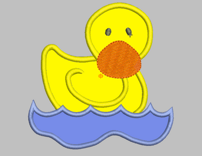 Rubber Ducky Embroidery Applique Design - IC1derful Designs