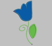 Flower Embroidery Applique Design - IC1derful Designs
