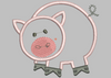 Barn Pig Embroidery Applique Design - IC1derful Designs