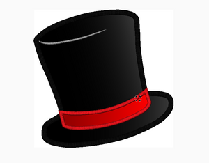 Top Hat Embroidery Applique Design - IC1derful Designs