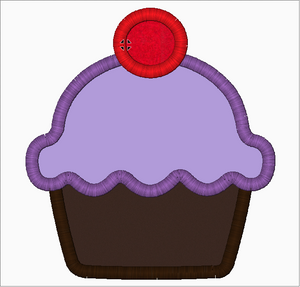 Cupcake Embroidery Applique Design - IC1derful Designs