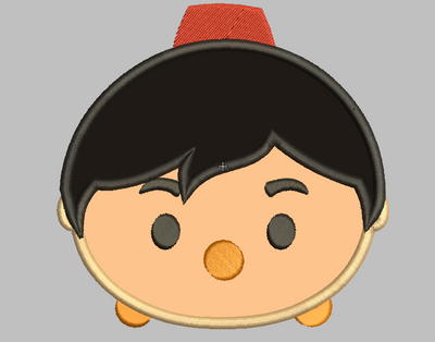 Tsum Tsum Embroidery Design Applique - Aladdin - IC1derful Designs