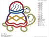 Turtleback Ride Embroidery Applique Design - IC1derful Designs