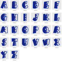 Abstract Alphabet Font Embroidery Design (Fill Stitch) - IC1derful Designs