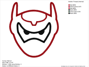 Big Hero 6 Embroidery Applique Designs - IC1derful Designs