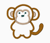 Monkey Embroidery Applique Design - IC1derful Designs
