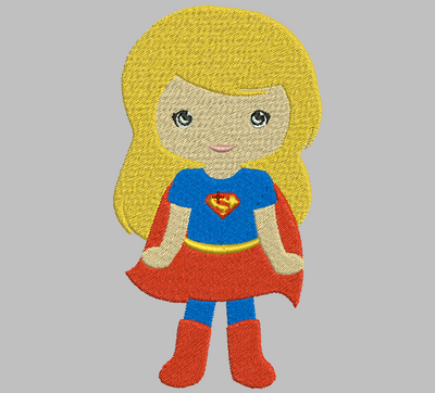 Tsum Tsum Embroidery Design - Super Girl (Fill) - IC1derful Designs