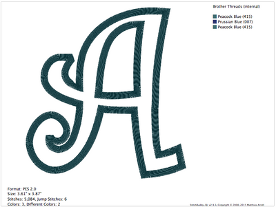 Curlz Font Applique PES Machine Embroidery Design - IC1derful Designs